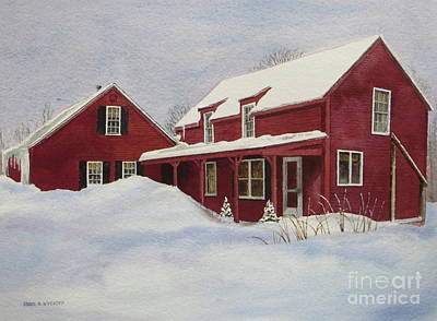 Dresden Farmhouse Print by Karol Wyckoff