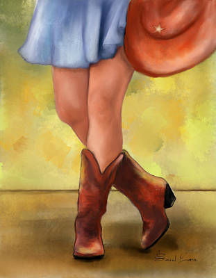These Boots Are Made For Dancing Print by Sannel Larson