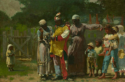 Dressing Painting - Dressing For The Carnival by Winslow Homer