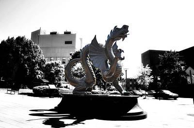 Phillies Digital Art - Drexel Dragon by Bill Cannon