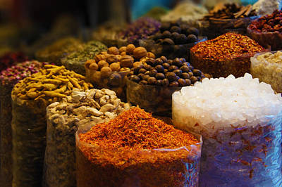 Red Photograph - Dried Herbs, Flowers , Spices In The Souk At Deira In Dubai by Art Spectrum