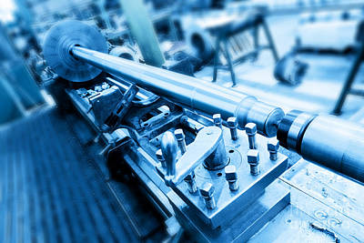 Machinery Photograph - Drilling And Milling Machine In Workshop by Michal Bednarek