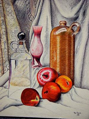 Drink And Fruit Print by Ron Sylvia