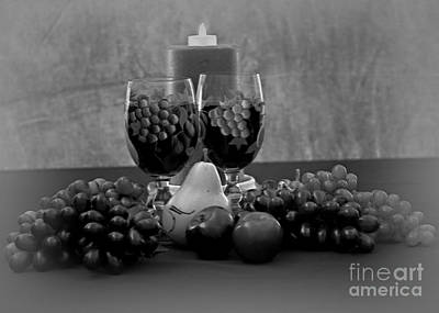 Photograph - Drink Fo Two In Black And White by Sherry Hallemeier