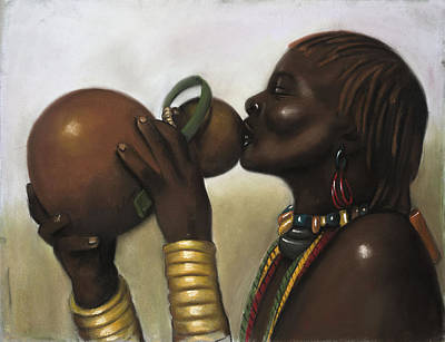 Drinking Gourd Print by L Cooper