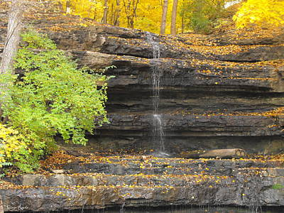 Creve Coeur Park Photograph - Dripping Springs Waterfall 2 by Ginger Repke