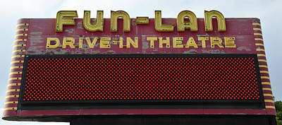 Sign In Florida Photograph - Drive Inn Theatre by David Lee Thompson