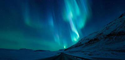 Aurora Photograph - Driving Home by Tor-Ivar Naess