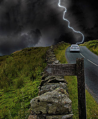 Lightning Bolt Photograph - Driving Into The Storm by Martin Newman