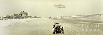 Daytona 500 Photograph - Driving On The Beach by Jon Neidert