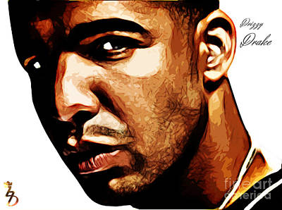 Drizzy Digital Art - Drizzy Drake by The DigArtisT