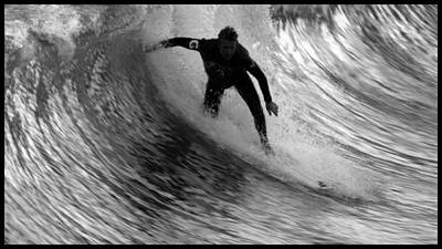 San Clemente Surfing Photograph - Dropping In At San Clemente Pier by Brad Scott