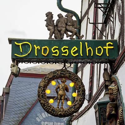 Drosselhof Neon Sign Print by Teresa Mucha