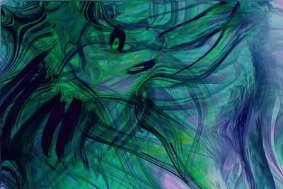 Abstarct Digital Art - Drowning by Linda Sannuti