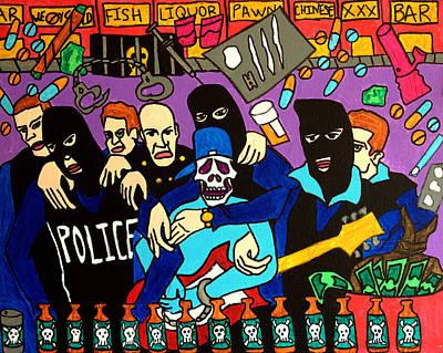 Hop Drawing - Drugs Bust by Arne Henn