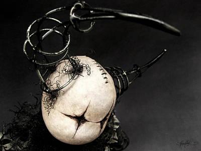 Drum Doll Looking Print by Kalynn Kallweit