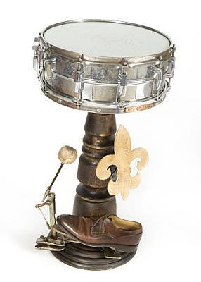 Art Mixed Media - Drum Table 01 by Benjamin Bullins