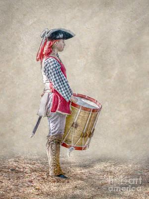 Busy Digital Art - Drummer Boy Portrait  Ver 2 by Randy Steele