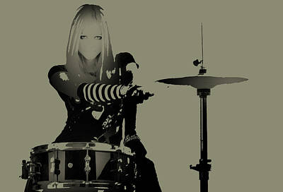 Pink Photograph - Drummer by Naxart Studio