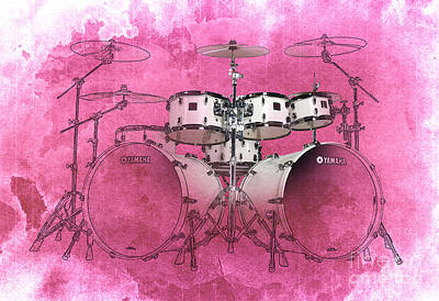 Drum Drawing - Drums by Pablo Franchi
