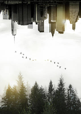 Cities Digital Art - Duality by Nicklas Gustafsson
