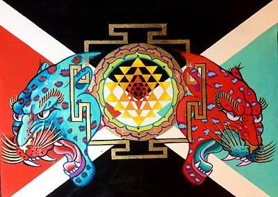 Sri Yantra Painting - Duality Of The Sri Yantra by Britt Kuechenmeister