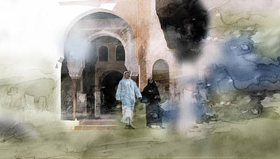 Landscape Painting - Dubai 6899 by Jani Heinonen