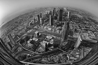 Dubai At The Top Print by Robert Work