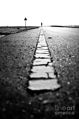 Dubai Ghost Road, Yellow Line, Roller  Print by David GABIS