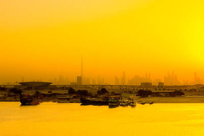 Travel Photograph - Dubai Sunrise by Steven Green