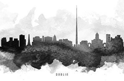 Towns Digital Art - Dublin Cityscape 11 by Aged Pixel