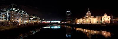 Dublin Quays By Night Print by Joe Houghton