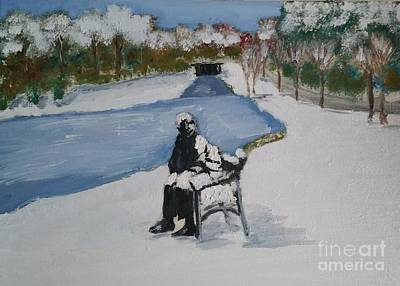 Dublin Royal Canal In Snow Original by Philomena Dunne