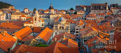 Brick Building Photograph - Dubrovnik Panorama by Inge Johnsson