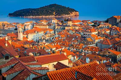 Dubrovnik Rooftops Print by Inge Johnsson