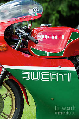 Bicycle Photograph - Ducati 900 Mike Hailwood Replica by Tim Gainey