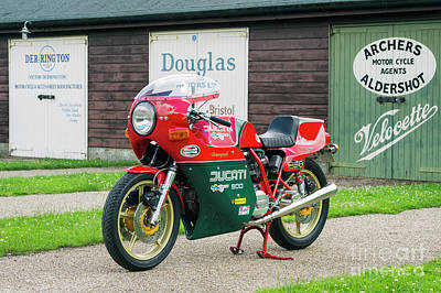 Ducati 900cc Mike Hailwood Replica Print by Tim Gainey