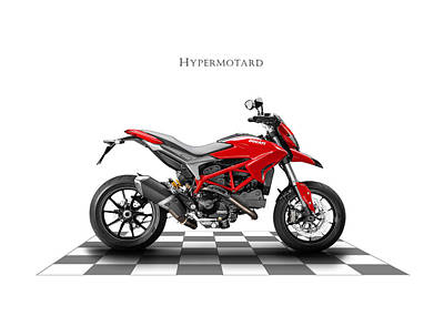 Bicycle Photograph - Ducati Hypermotard by Mark Rogan