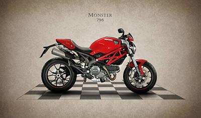 Monsters Photograph - Ducati Monster 796 by Mark Rogan