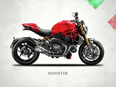 Motorcycles Digital Art - Ducati Monster by Mark Rogan