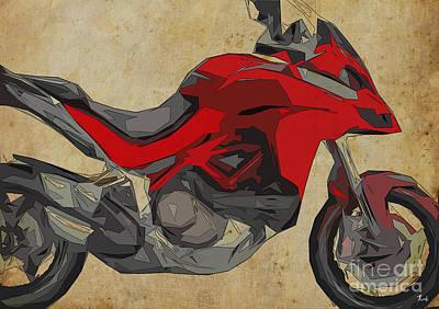 Bike Drawing - Ducati Multistrada 1200 2015 by Pablo Franchi