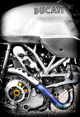 Motorbike Photograph - Ducati Ps1000le Engine by Tim Gainey