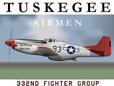Racism Digital Art - Duchess Arlene Of The Tuskegee Airmen by Matthew Webb
