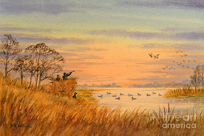 Duck Hunting Calls Print by Bill Holkham