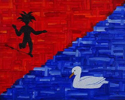 Mixed Media - Duck Meets Dancer by Manuel Sueess