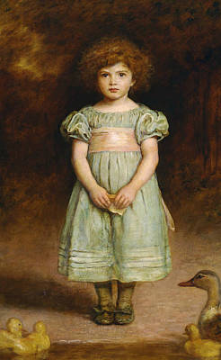 Duck Painting - Ducklings by John Everett Millais