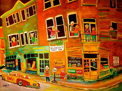 Mordecai Richler Painting - Duddy's Neighbourhood by Michael Litvack