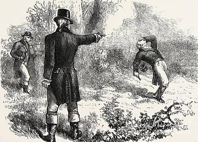 Duel Between Burr And Hamilton Print by American School