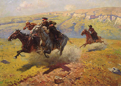 Gunfire Painting - Duel by Franz Roubaud