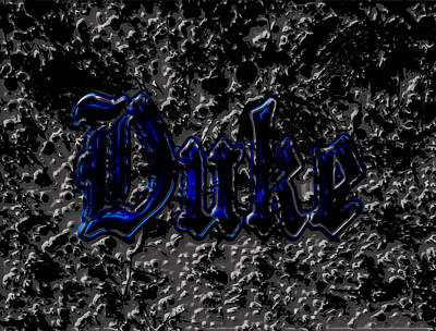 Duke Blue Devils 1d Print by Brian Reaves
